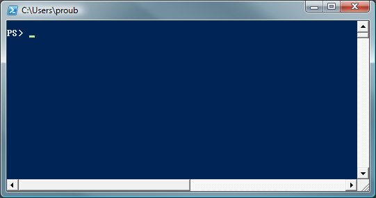 PowerShell prompt showing no mapping